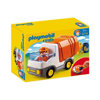 PLAYMOBIL 1.2.3 vuilniswagen 6773