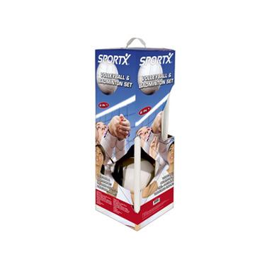 SportX volleybal- en badmintonset