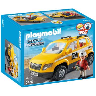PLAYMOBIL City Action werfleider met voertuig 5470