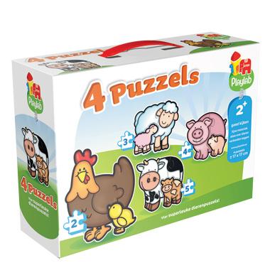 Babydieren Puzzels 4 in 1