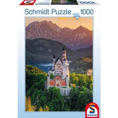 Schmidt puzzel kasteel Neuschwanstein - 1000 stukjes