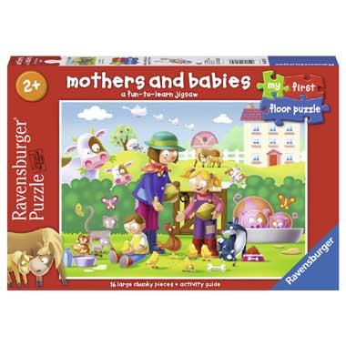 16 Stuks Vloerpuzzel Moeder en Kinderen