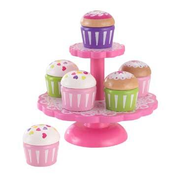Cupcake houder met gebakjes