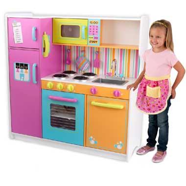 Luxe keuken in felle kleuren
