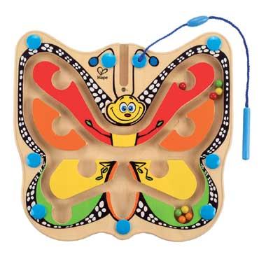 Houten kleur- en magneetspel vlinder