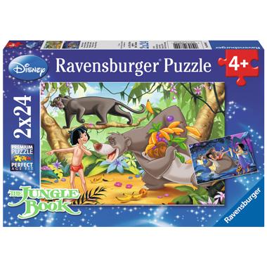 Ravensburger Disney puzzel Mowgli's vrienden - 2 x 24 stukjes