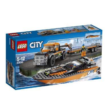 LEGO City 4x4 met speedboot 60085