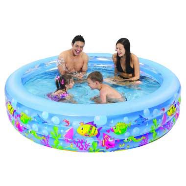 Jilong familiezwembad - rond - aquarium -152 cm