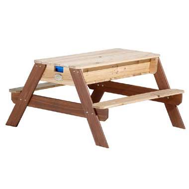 Zand- en water picknicktafel