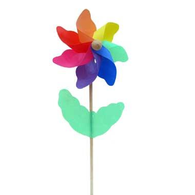 Rhombus Regenboog bloem windmolen