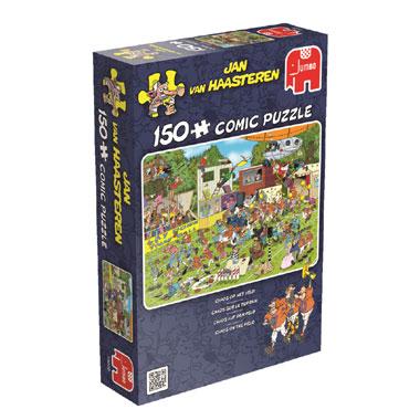 Jumbo Jan van Haasteren puzzel Chaos op het veld 150 stukjes