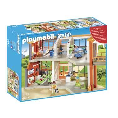 PLAYMOBIL City Life compleet ingericht kinderziekenhuis 6657