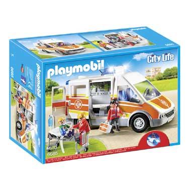 PLAYMOBIL City Life Ziekenwagen met licht en geluid 6685