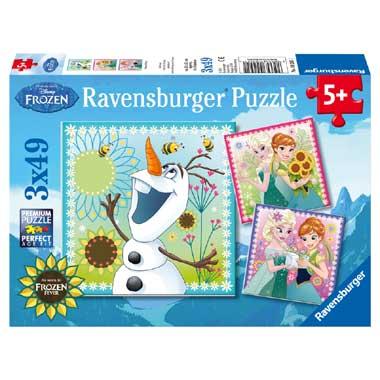 Ravensburger 3x 49 Stuks Puzzel Disney Frozen Fever