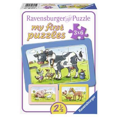 Ravensburger Goede Vrienden Mijn Eerste Puzzel 3x6 stukjes
