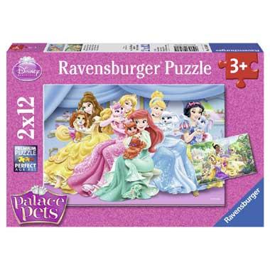 Ravensburger puzzels Schattige Disney Palace Pets 2 x 12 stukjes