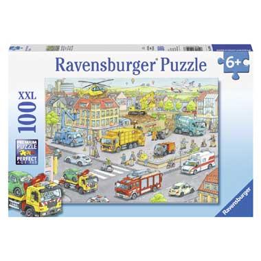 Ravensburger Voertuigen in de Stad Puzzel 100 stukjes