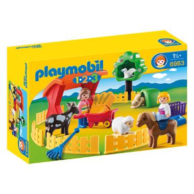 PLAYMOBIL 1.2.3 kinderboerderij 6963