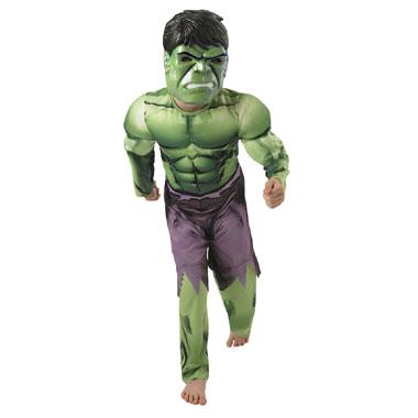 Hulk kostuum gespierde borst - maat 116/128