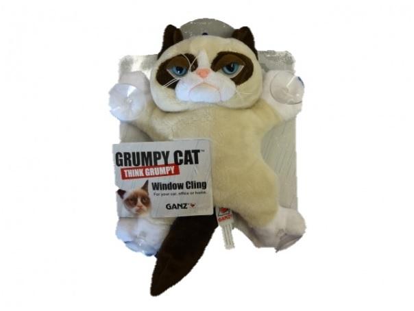 Grumpy Cat raam knuffel 25 cm