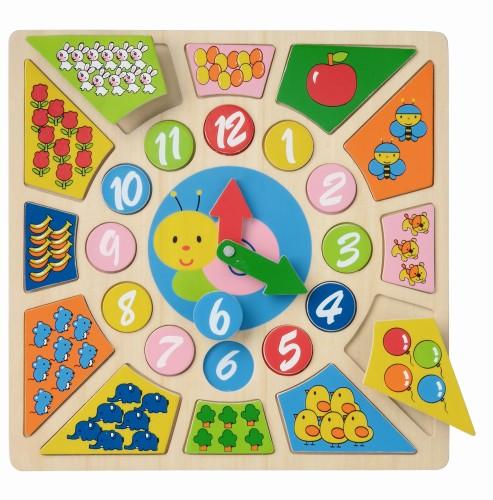 Multi Klok houten puzzel