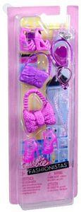 Barbie fashionistas - Roze / paarse accessoires