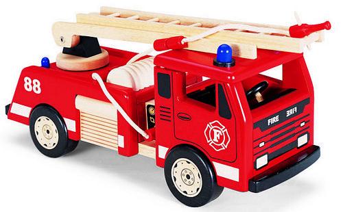 Pintoy brandweerwagen hout