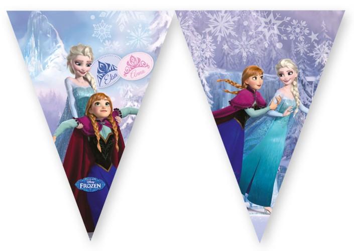 Disney Frozen schaatsen vlaggenlijn - 2 meter