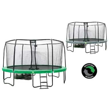 EXIT JumpArena trampoline All-In-One rond - 457 cm - groen
