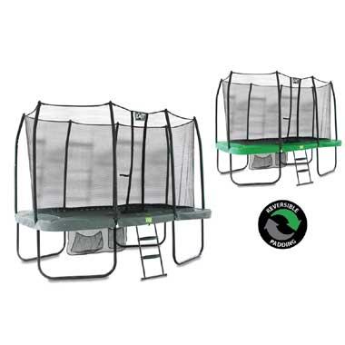 EXIT Trampoline JumpArena All-In-One Rechthoek Groen 244x427 cm