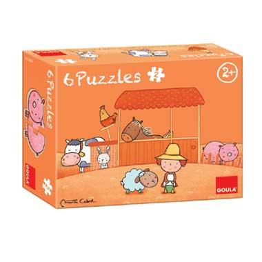 Jumbo kinderpuzzel Carla's boerderij 6 puzzels