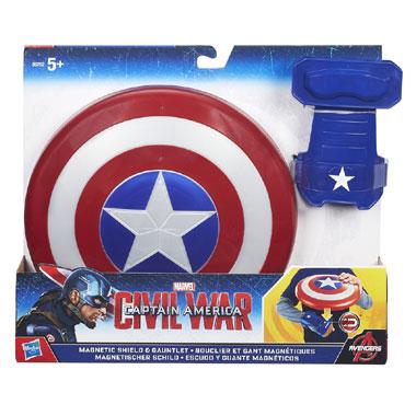 Captain America schild en handschoen