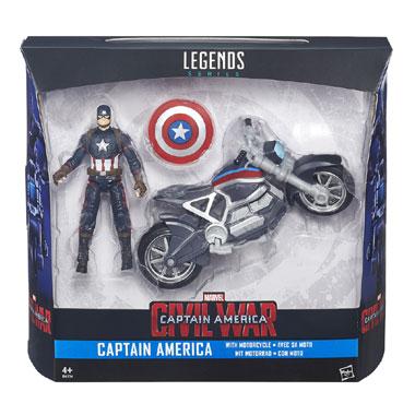 Captain America Legends figuur + voertuig