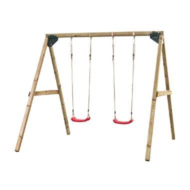 SwingKing dubbele houten schommel - Lucy