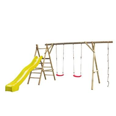 SwingKing speeltoestel Noortje met glijbaan - geel
