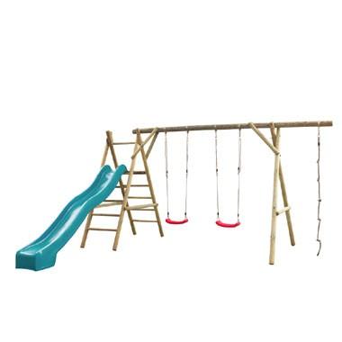 SwingKing speeltoestel Noortje met glijbaan - turquoise