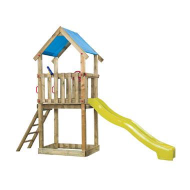 SwingKing speeltoren met gele glijbaan - Lizzy
