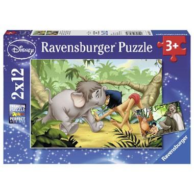 Ravensburger Disney Mowgli en zijn vrienden puzzelset - 12 stukjes