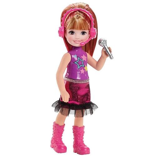 Barbie - chelsea pink met microfoon