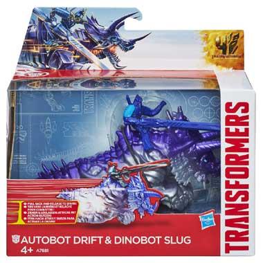 Transformers autobot Drift en dinobot Slug
