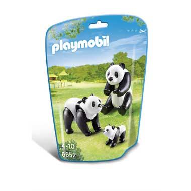 PLAYMOBIL panda's met baby 6652