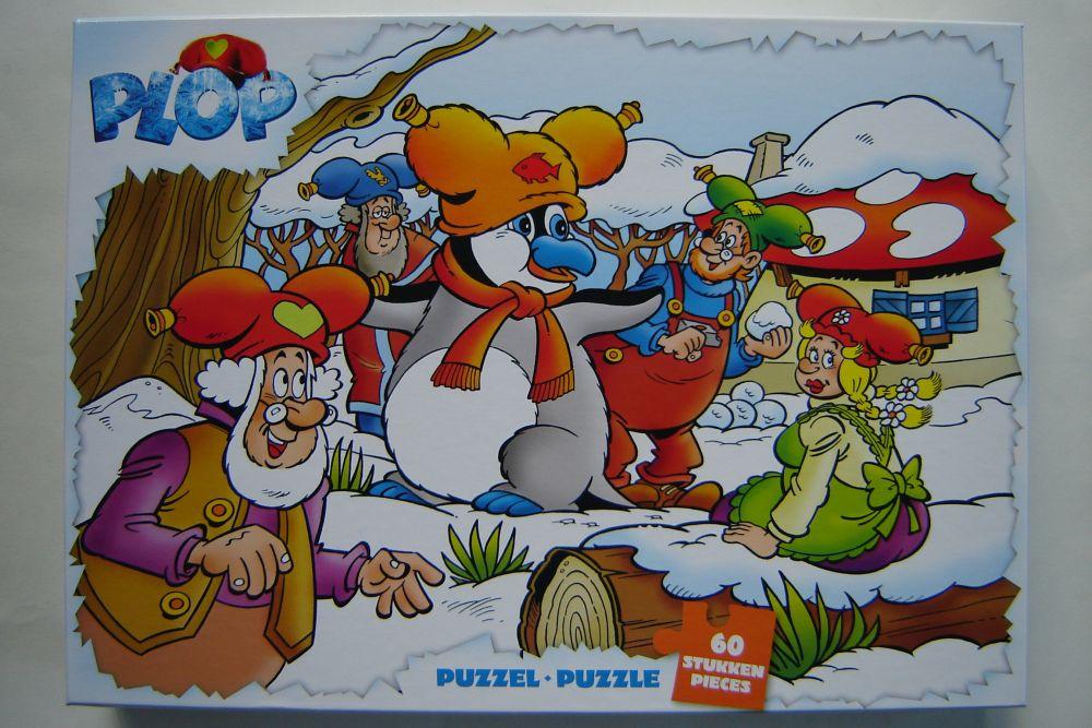 Kabouter Plop en de pinguin puzzel 60 stukjes