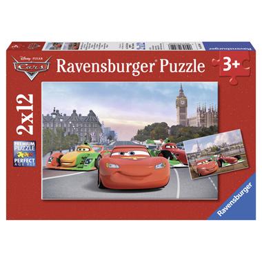 Ravensburger puzzel Bliksem McQueen en zijn vrienden 2 x 12 stukjes
