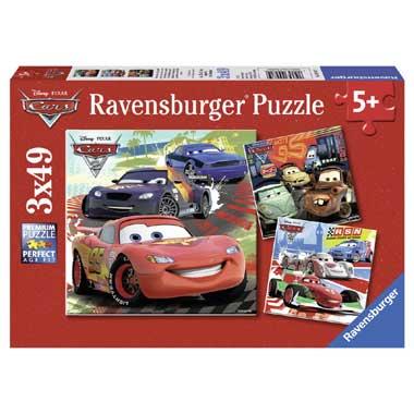 Ravensburger Cars 2 puzzel 3 x 49 stukjes