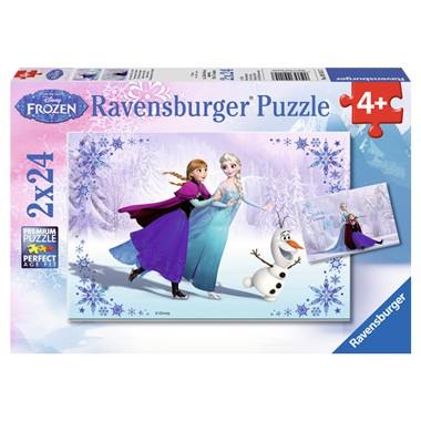 Ravensburger Disney Frozen puzzel Zussen voor altijd - 2 x 24 stukjes