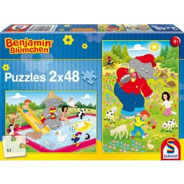 Zomertijd 2 x 48 stukjes - Schmidt Kinderpuzzel