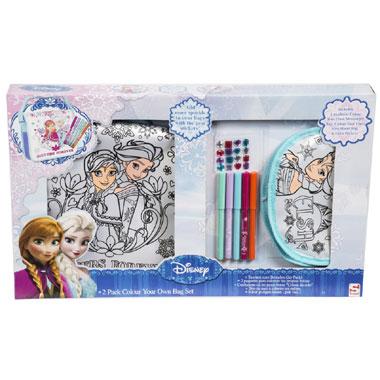 Disney Frozen Kleur je eigen tas 2-pack