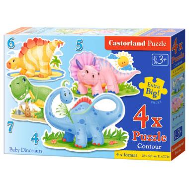 Castorland puzzel baby dinosaurussen - 22 stukjes
