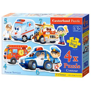Castorland puzzel reddingsdiensten- 22 stukjes