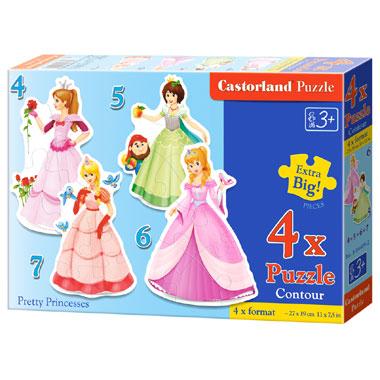 Castorland puzzel mooie prinsessen - 22 stukjes